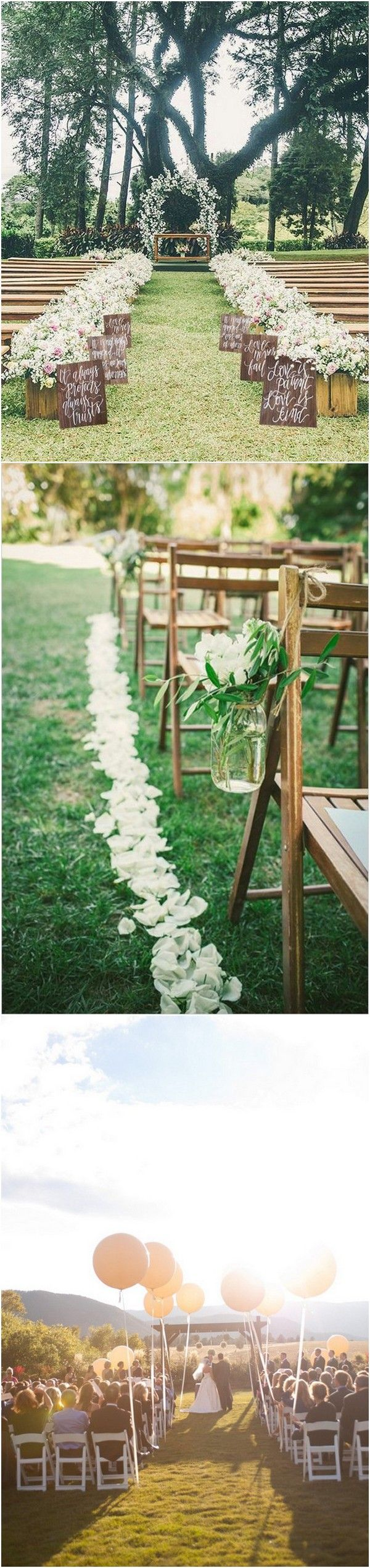 romantic outdoor wedding ceremony ideas with balloons