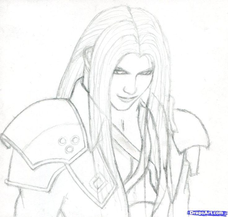 Coloring For Adults Kleuren Voor Volwassenen Fantasy Drawings Final Fantasy Vii Drawings