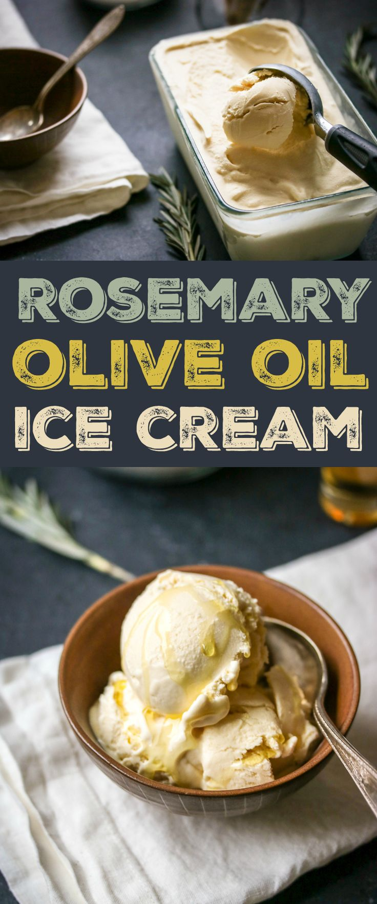 It sounds crazy, but the surprising flavor of this rosemary and olive oil ice cream will you have coming back for more!