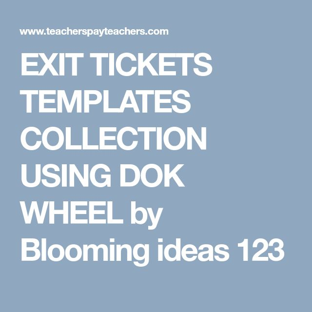 The 25+ best Exit ticket template ideas on Pinterest - Exit Ticket Template