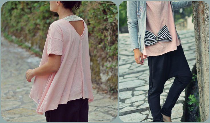 #jacket #grey #bow #stripes #girly #romantic #love #fashion #women #winter #autumn #2015 #2016 #petitboutik