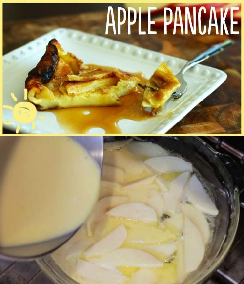 Easy Delicious Recipe: Apple Puffed Pancake, Perfect for Breakfast or Dessert...