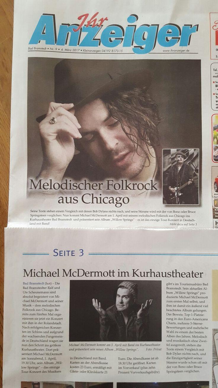 Michael McDermott in Deutschland Bad Bramstedt am 01.04.2017 Chicago Folkrock