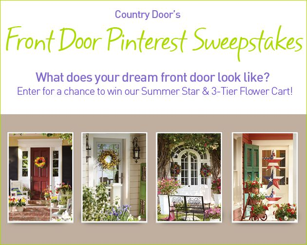 pin by country door catalog on country door 39 s front door sweepstakes. Black Bedroom Furniture Sets. Home Design Ideas
