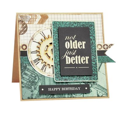 Kaisercraft Time Machine - Male Birthday Card  By Alicia McNamara
