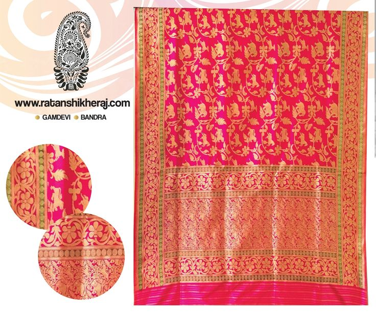 Coral pure silk Shikargha Jal has all the elements to spruce up your personality and give you a gorgeous look. ‪#‎SilkRevolution‬ ‪#‎SilkLove‬ ‪#‎BanarasiSilkSarees‬ ‪#‎BanarasiSarees‬