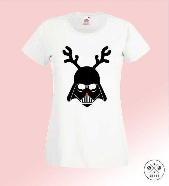 Great christmas t-shirt!! Darth Vader! Star Wars! Woman clothing