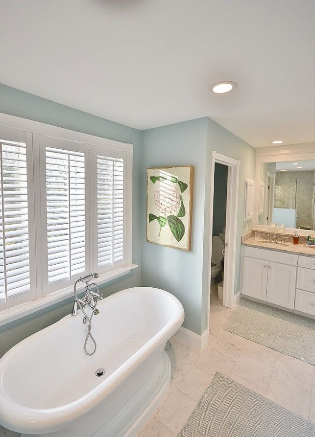 White Garden Tub, Spa Like Bathroom, Kabinart Wakefield Cabinets Project By Chester  County Kitchen