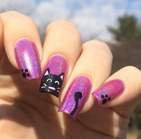 30+ Holographic Nail Designs – watchoutladies.net