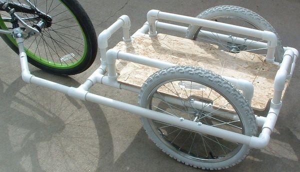 Dennis S Pvc Bike Trailer Concept Realized Bikeshophub
