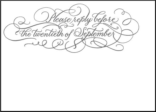 Letterpress Wedding Reply cards | Hayes Calligraphy Design | Bella Figura Letterpress