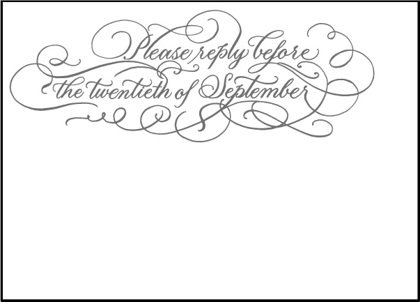 Letterpress Wedding Reply cards | Hayes Calligraphy Design | Bella Figura Letterpress