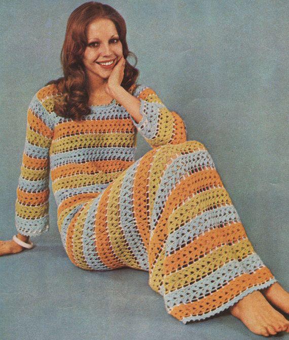 retro crochet dress