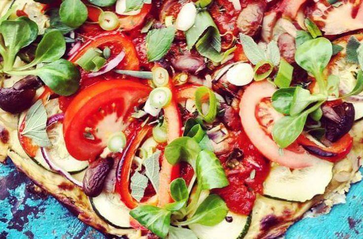 Bloemkoolpizza met verse groenten