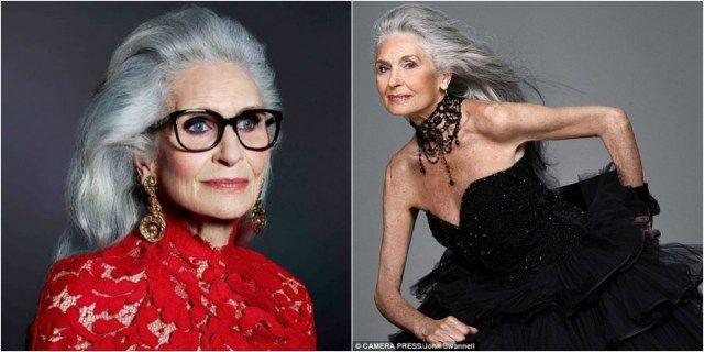 Daphne Selfe (88) begon op haar 20e al met modellenwerk, maar vanwege het moederschap stopte ze hiermee. Toen haar kinderen opgegroeid waren, besefte ze zich hoe erg ze de catwalk miste en dus deed ze opnieuw een gooi naar een carrière als model. Ze vroeg aan een modellenbureau of ze wellicht een opdracht voor haar hadden en inmiddels wordt ze vaker geboekt dan in haar jongere jaren.