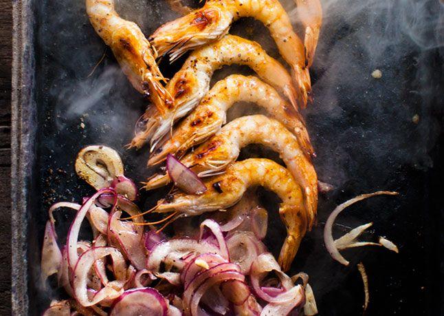 Plancha-style Shrimp (on griddle/skillet or grill!)
