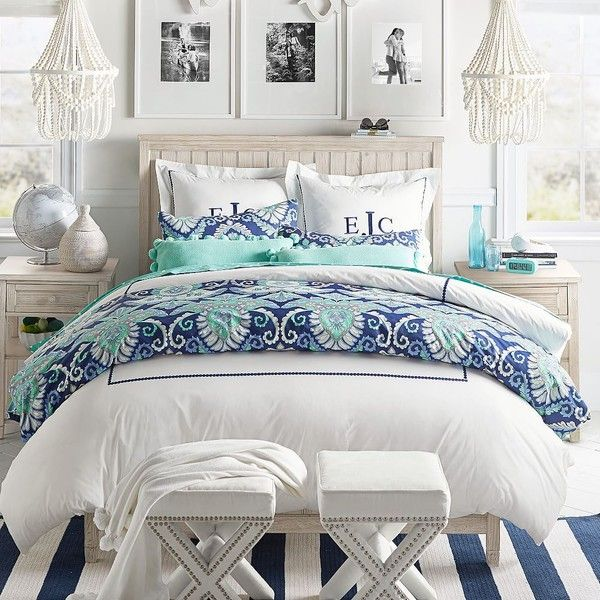 PB Teen Deco Medallion Duvet Cover, Twin, Navy Multi ($79) ❤ liked on Polyvore featuring home, bed & bath, bedding, duvet covers, navy blue bedding, pbteen bedding, navy duvet, navy pillow shams and medallion duvet