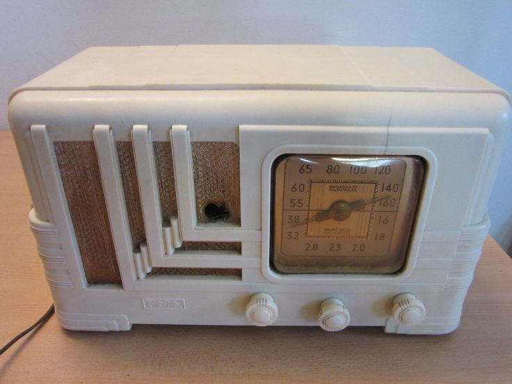 Vintage Art Deco ivory Bakelite FADA tube radio AS-IS | eBay