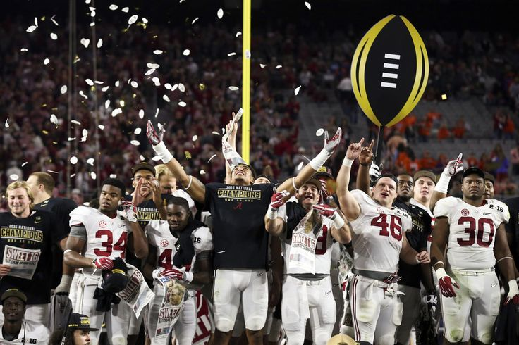The Heisman Trophy winner Derrick Henry ran for 158 yards and three touchdowns, leading No. 2 Alabama past No. 1 Clemson for the College Football Playoff championship.