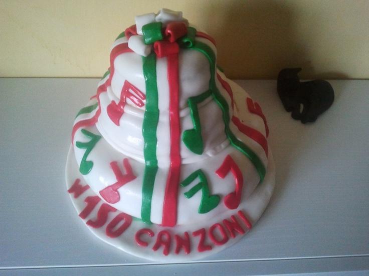 Torta 150 canzoni... dedicata alla musica e ai 150 anni dell'unità d'Italia. #cakes