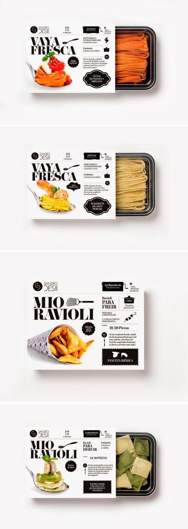 Sandro Desii | Fresh pasta (Packaging) by Lo Siento Studio, Barcelona