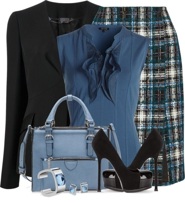 Tweet Pencil Skirt Work Outfit outfitspedia
