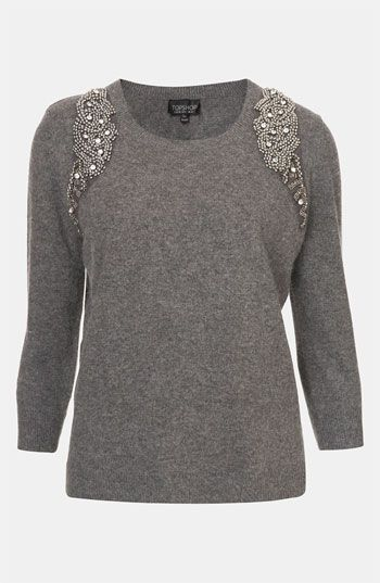 Topshop Embellished Harness Sweater available at #Nordstrom