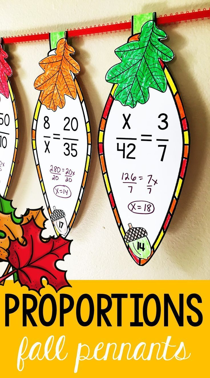 Middle School Math Students Solve Proportions On Math Pennants That Double As Fun Math Themed Tha Math Pennant Thanksgiving Math Maths Activities Middle School