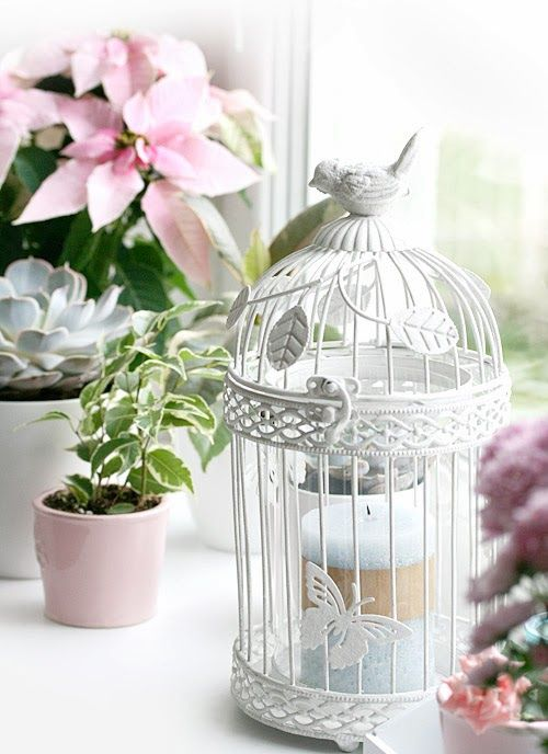 Shabby chic window decor
