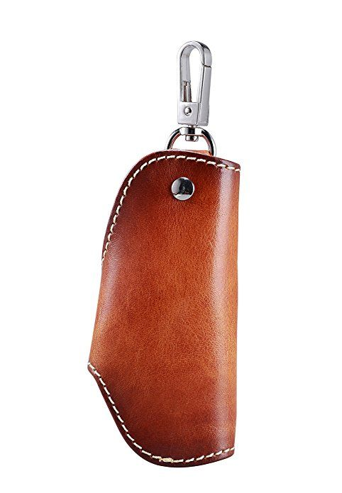 Amazon.com: MEKU Men's Handmade Genuine Leather Car Smart Key Chain Case Pocket Key Holder (Light Brown) Father Day Gifts: Shoes