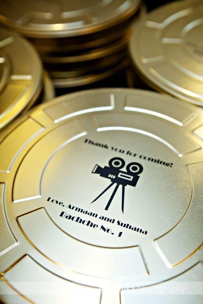 Decorazioni per il matrimonio a tema cinema - Bomboniera a tema cinema