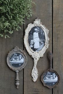 Hand Mirror Photo Frames - farmhouse - frames - other metro - by A Cottage in the City