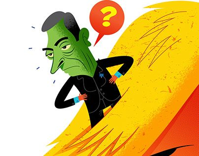 """Check out new work on my @Behance portfolio: """"Draghi does not know what Trump is going to do"""" http://be.net/gallery/52097465/Draghi-does-not-know-what-Trump-is-going-to-do"""