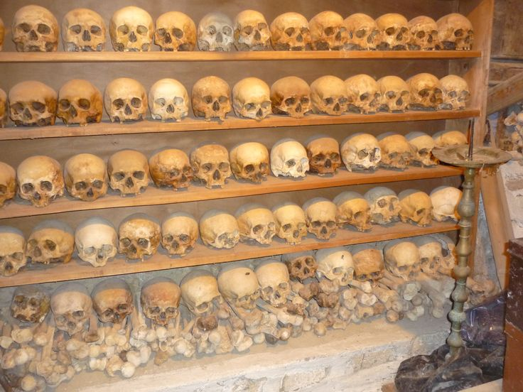 Skulls of Monks who had lived in Holy Monastery of Grand Meteoron #cathytravelling