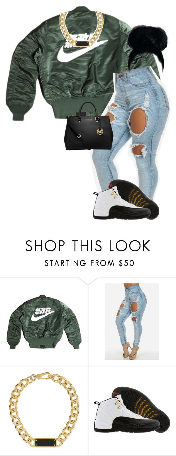 """""""Untitled #54"""" by frostedflakeess ❤ liked on Polyvore featuring Marc by Marc Jacobs, TAXI and MICHAEL Michael Kors"""
