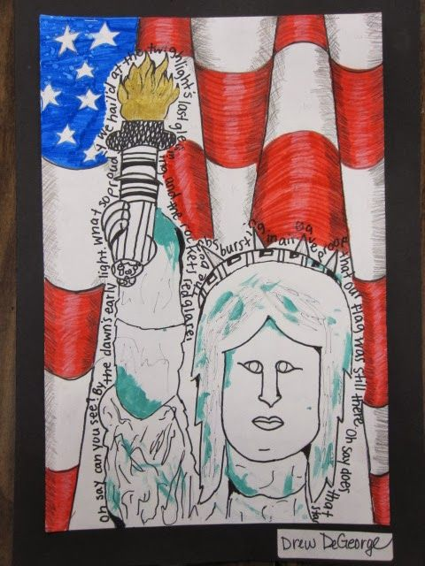 5 th  grade artists explored the grandeur of the Statue of Liberty, an emblem of peace and freedom in America. Mrs. Susa's art classes revi...