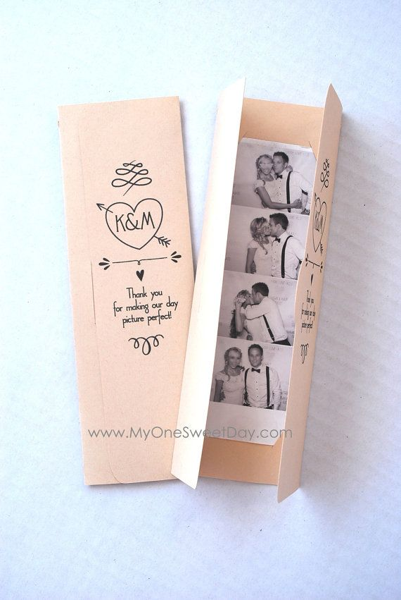 photo booth photo strip picture holders party favor spring or summer wedding theme - Summer Wedding Invitations