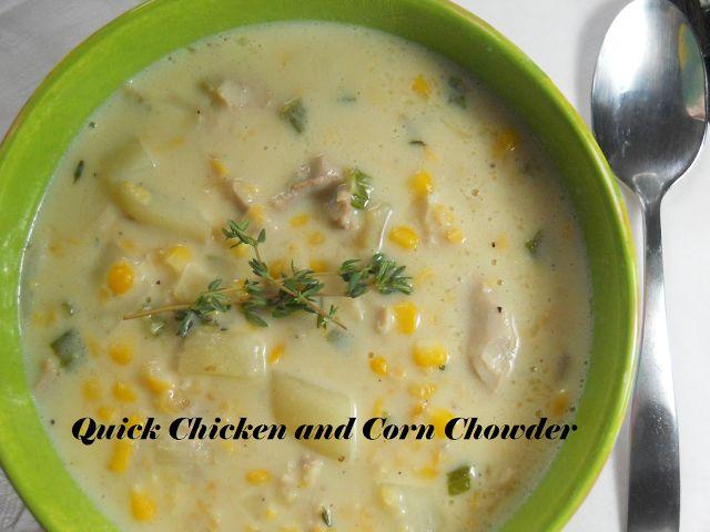 Quick Chicken and Corn Chowder
