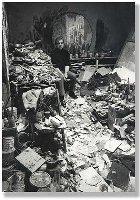 Francis Bacon's Studio. Now I don't feel so bad about leaving a box on the floor - LOL!