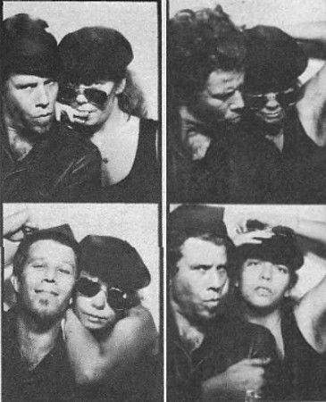 Photo booth snaps of Tom Waits & Ricky Lee Jones, 1979