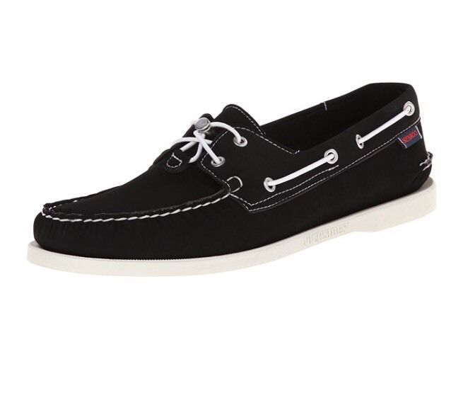 Sebago Docksides Women's Coat Shoes Black Neoprene Size 8.5  BUY THESE NOW ON EBAY AT THE CURVY BLONDES CLOSET