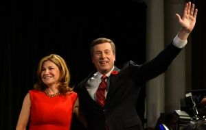 John Tory waves with his wife Barbara Hackett after being elected as mayor on Monday, Oct. Description from cbc.ca. I searched for this on bing.com/images