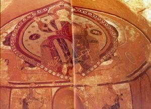 a Thot-hegyi freskó     Vörös Győző által megtalált Pantokrátor Thébában