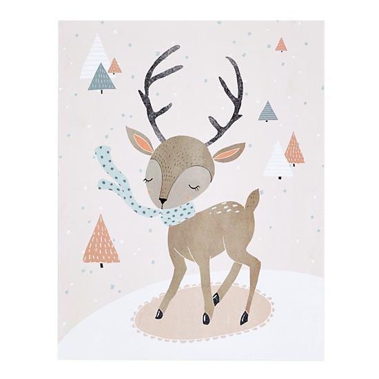Winter Deer - Nod Institute of Art Print (Christmas Deer ...