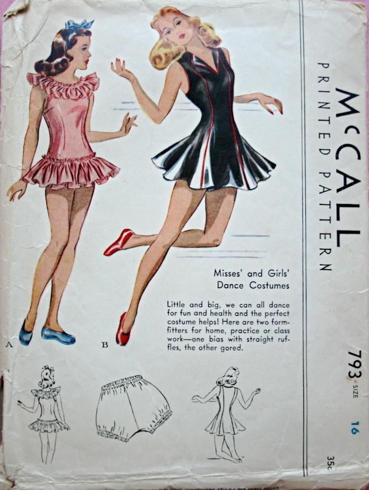 McCall 793: Missesu0027 And Girlsu0027 Dance Costume