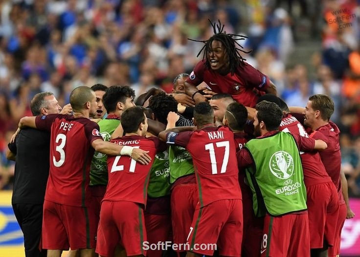 Team celebrates opening goal  scored by Eder.        Video. Euro 16. Final. Portugal v France 1-0. Best moments and goal. ... 29  PHOTOS        ... EURO 2016 CHAMPIONS: Portugal!        Original article:         http://softfern.com/NewsDtls.aspx?id=1104&catgry=6            #opening ceremony, #Nani, #Poland, #England, #SoftFern Sport News, #Semi-Finals