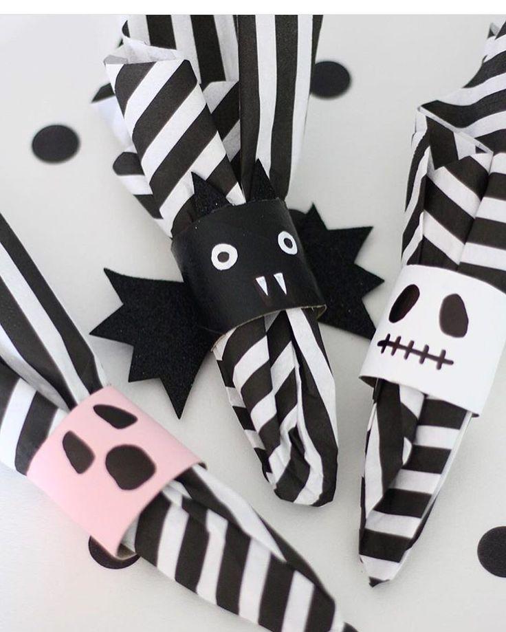 """511 gilla-markeringar, 7 kommentarer - Mer pyssel åt folket!  (@kreativakarin) på Instagram: """"Toarullar och lite färg, lätt som en plätt att fixa läskiga servetthållare till halloweenfesten!…"""""""