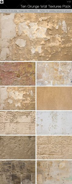 10 Grunge Wall Textures Pack 1 by *HollowIchigoBanki on deviantART