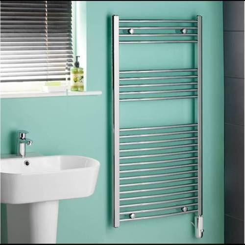 Een electrische handdoekradiator perfecte maat voor de compacte badkamer 1000 x 500mm. Nu in de aanbieding voor €178