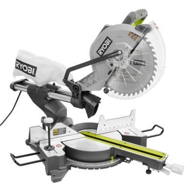 Ryobi 12 in. Sliding Miter Saw with Laser-TSS120L - The Home Depot